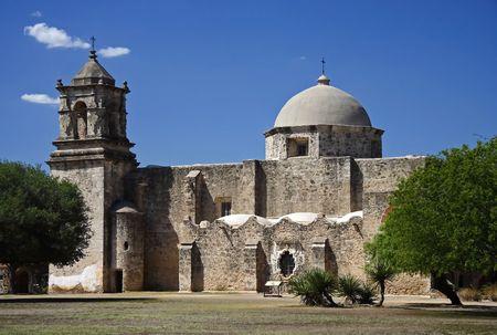 Mission San Jose in San Antonio, Texas Stok Fotoğraf