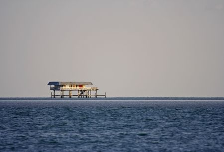 bill baggs: One of several historic homes in Stiltsville, Biscayne National Park, Florida