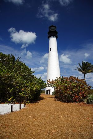 bill baggs: Cape Florida Lighthouse, Bill Baggs State Park, Florida Stock Photo