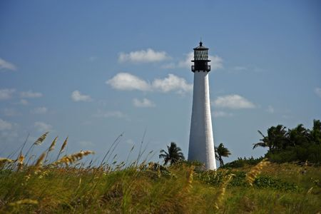 bill baggs: The Cape Florida Lighthouse (1825) in Miami, Florida Stock Photo