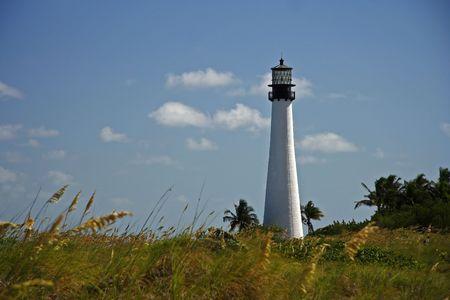 bill baggs: The Cape Florida Lighthouse (1825) in Miami, Florida Stock Photo