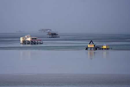 bill baggs:  Stiltsville in Biscayne National Park, Miami, Florida Stock Photo