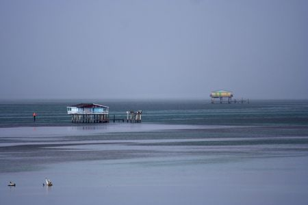 bill baggs: Historic Stiltsville in Biscayne National Park, Florida Stock Photo