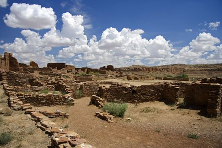 chaco: Native American archeological ruins in Chaco Culture National Historical Park