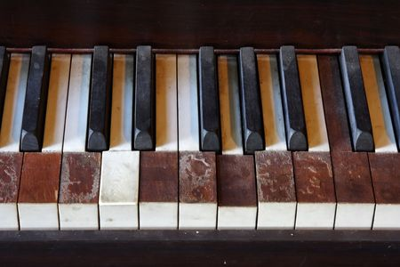 rickety: Rickety Piano Keys Stock Photo