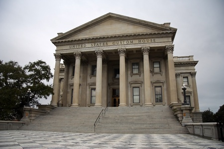 Historic United States Customs House in Charleston Фото со стока - 8559533