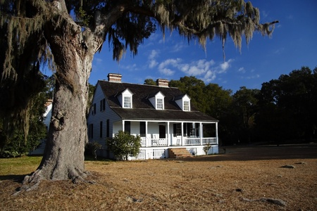 Antebellum plantation home in Charles Pinckney National Historic Site, Charleston