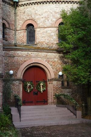 congregational: Entrance to Charlestons historic Circular Congregational Church
