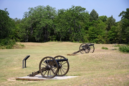 Civil War artillery at Andersonville National Historic Site Stock Photo - 9635730