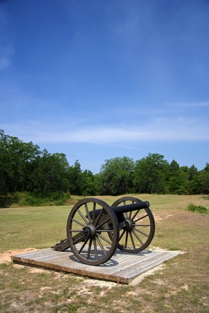 Field Gun at Andersonville National Historic Site, Georgia Stock Photo - 9635732