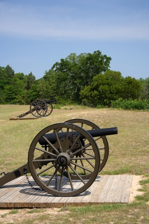 national historic site: Artillery at Andersonville National Historic Site, Georgia Stock Photo