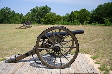 Big Guns at Andersonville National Historic Site Stock Photo - 9635738