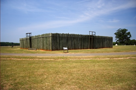 Reconstructed Stockade at Andersonville National Historic Site Stock Photo - 9635739