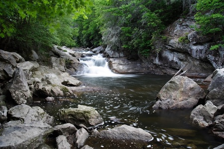 Cataratas de cantera, bosque nacional de Nantahala, North Carolina