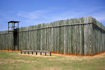Reconstructed Stockade, Andersonville National Historic Site, Georgia  Stock Photo - 9747722