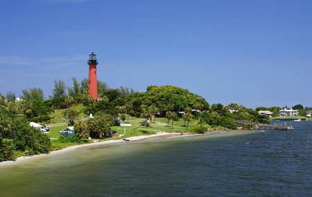 The Old Jupiter Inlet Lighthouse in Jupiter, Florida