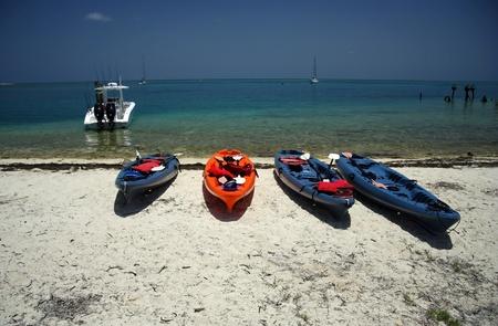 Kayaks on the Beach, Dry Tortugas National Park, Florida Keys photo