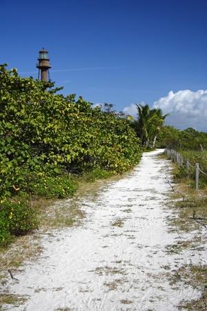 Beach Trail on Sanibel Island, South Florida Stock Photo