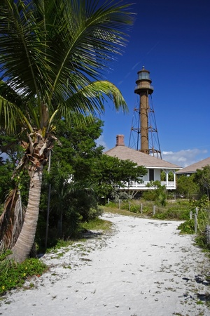 The historic Sanibel Island Lighthouse in South Florida photo