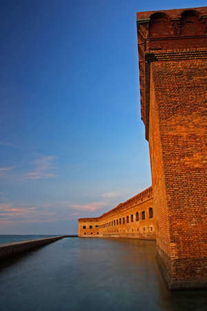 dry tortugas: Fort Jefferson at Sunset, Dry Tortugas National Park