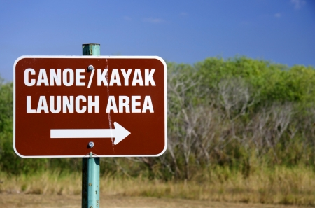 Canoe and Kayak Launch Sign, DuPuis Managment Area, Florida  photo