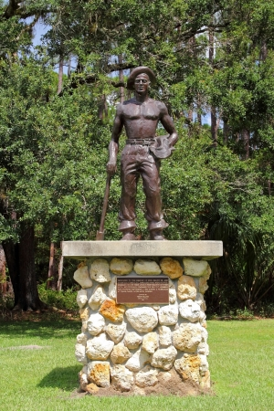 civilian: Civilian Conservation Corps Monument, Highlands Hammock State Park, Florida