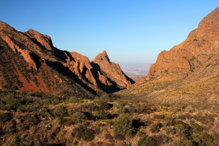 Scenic view of the Window in Big Bend National Park, Texas Stock Photo