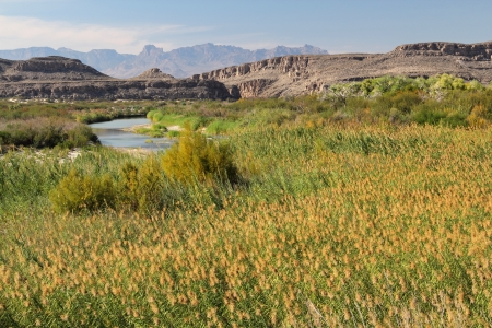 The Rio Grande as viewed from Big Bend National Park, Texas Stock Photo