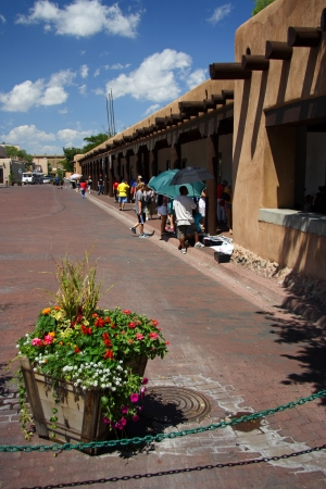fe: Governors Palace Native American Market in Santa Fe, New Mexico Editorial