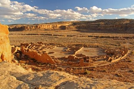 Pueblo Bonito, Chaco Culture National Historical Park, Nuevo M�xico Foto de archivo