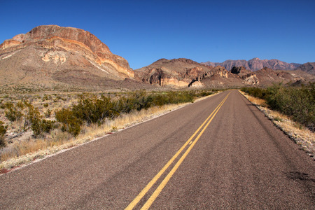 Scenic Road through Big Bend National Park, Texas