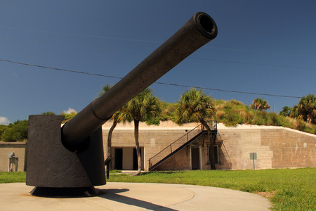 Artillery Piece at Fort DeSoto in the Tampa Bay Area, Florida
