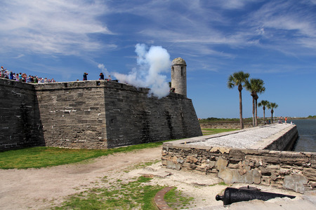 marcos: Artillery Demonstration in Castillo De San Marcos National Monument, St Augustine