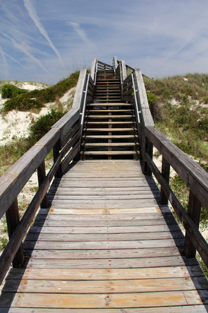 Smyrna Dunes Park Boardwalk in New Smyrna Beach, Florida Stock Photo