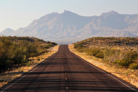 Scenic Desert Roadway through the Texas Big Bend Region Reklamní fotografie