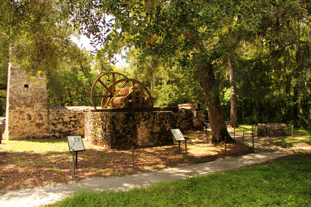 Yulee Sugar Mill Ruins Historic State Park in the city of Homosassa, Florida