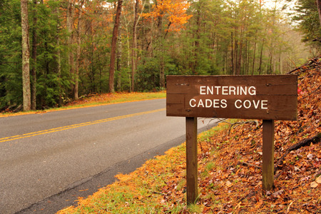 smokey: Cades Cove Entrance Sign, Great Smokey Mountains National Park