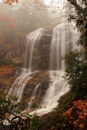 appalachian: Scenic Glenn Falls in the Appalachian Mountains Stock Photo