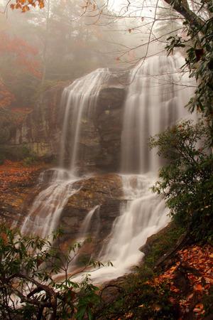 appalachian: Scenic Glenn Falls in the Appalachian Mountains Stock Photo