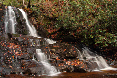 great smokies: Laurel Falls in Great Smokey Mountains National Park