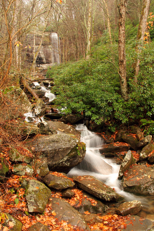 smokey: LeConte Creek with Rainbow Falls in Background, Great Smokey Mountains National Park