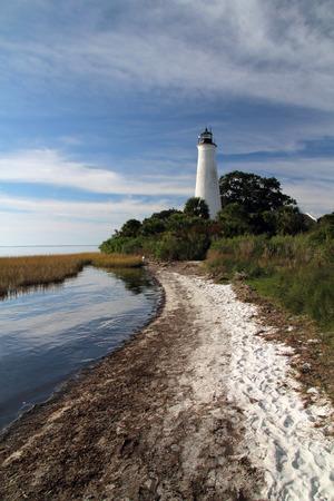 st  mark's: St. Marks Lighthouse, St. Marks National Wildlife Refuge, Florida Gulf Coast