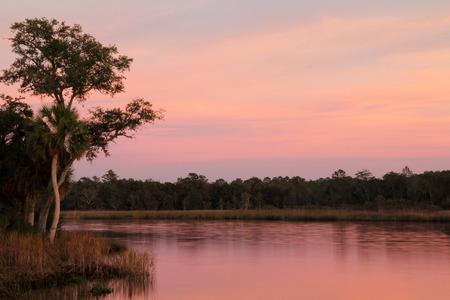 st  mark's: St. Marks River at sunset, Florida Gulf Coast