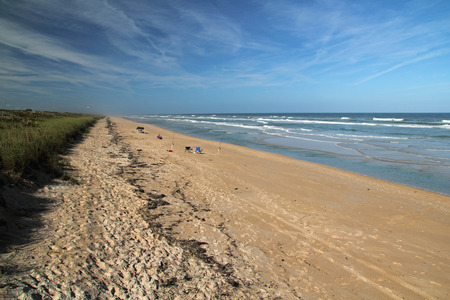 cape canaveral: Beautiful Beach in Canaveral National Seashore in Cape Canaveral, Florida Stock Photo