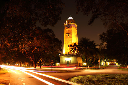 The old Alhambra Water Tower in Coral Gables, Florida