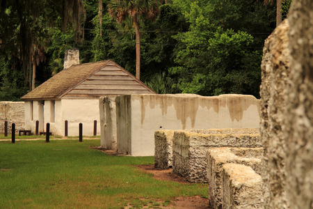 Historic Slave Cabin Ruins at the Kingsley Plantation in Jacksonville, Florida