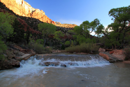 North Fork of the Virgin River, Zion National Park Stock Photo