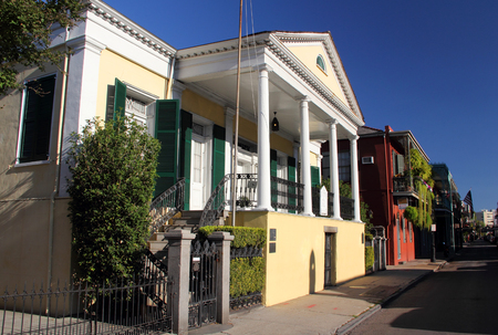 NEW ORLEANS, LA - NOVEMBER 25: The Beauregard-Keyes Home in the colorful French Quarter is a popular stop for Civil War and Southern history enthusiasts November 25, 2012 in New Orleans, LA.
