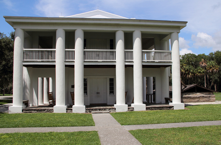 Gamble Plantation Historic State Park on the West Coast of Florida Editorial