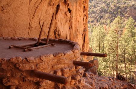 anasazi: Reconstructed Alcove House Kiva, Bandelier National Monument, New Mexico
